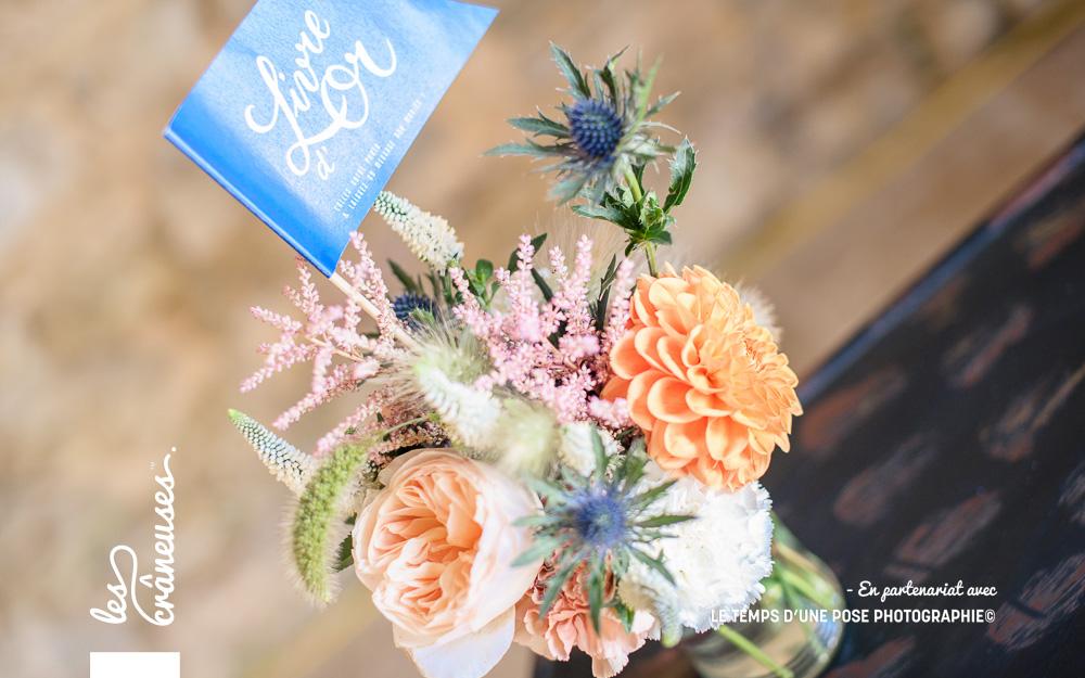 Fleurs mariage champêtre - Décoration - Les crâneuses - Manoir de Chivré - Wedding planner