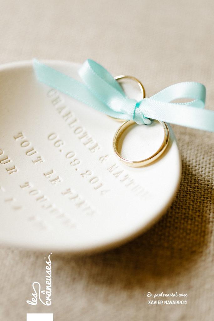 Alliances - Mariage bleu Tiffany - Les crâneuses - décoration mariage - Wedding planner