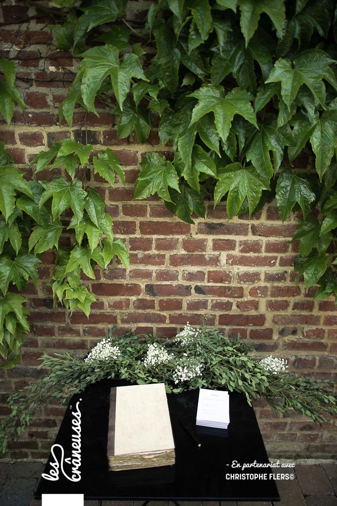 Livre d'or - Mariage nature - Mariage végétal - décoration - Les crâneuses