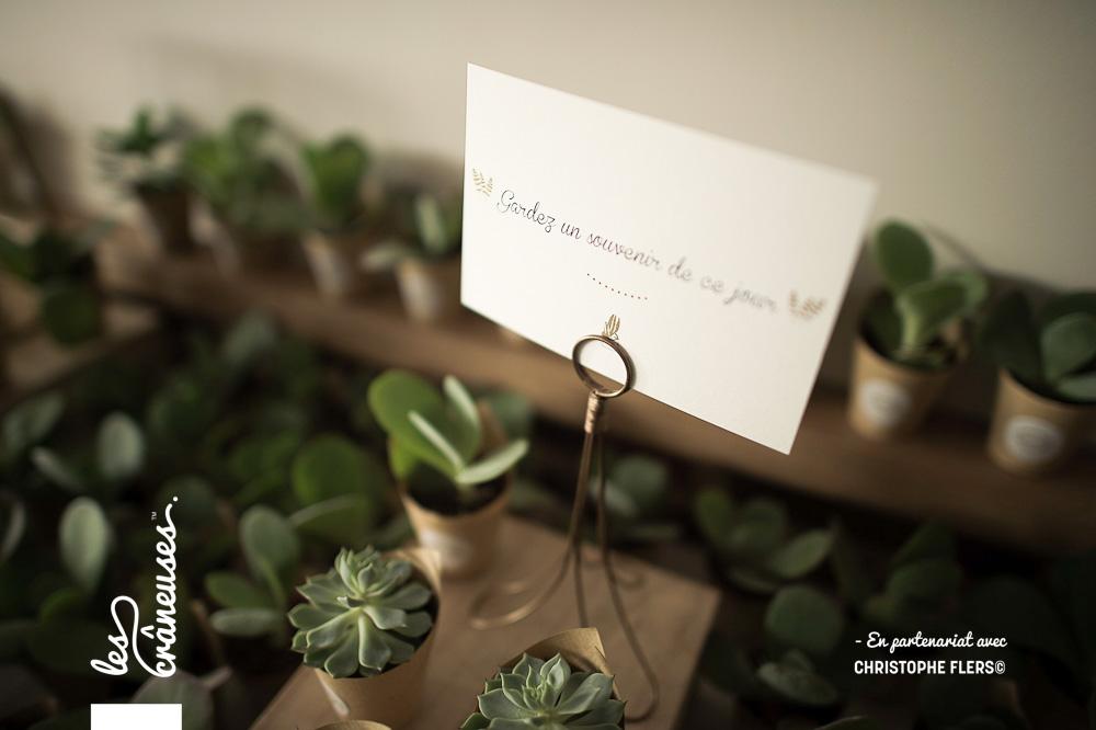 Cadeau invité - Plante grasse mariage - Mariage à Amiens - Les crâneuses