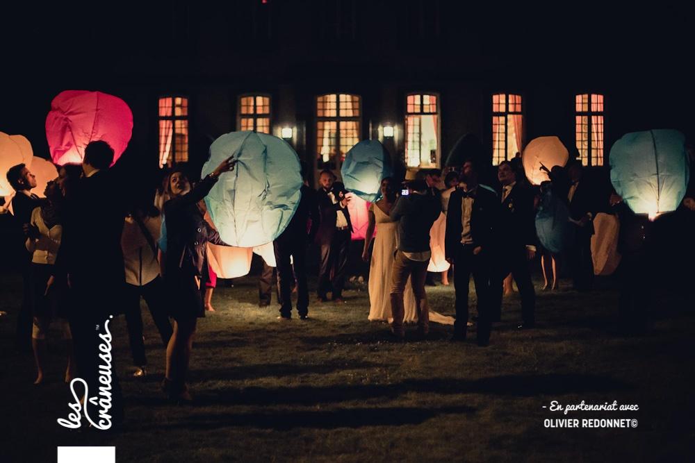Lâché de lanternes mariage - Mariage en Bretagne - Saint malo - Les crâneuses - Wedding planner