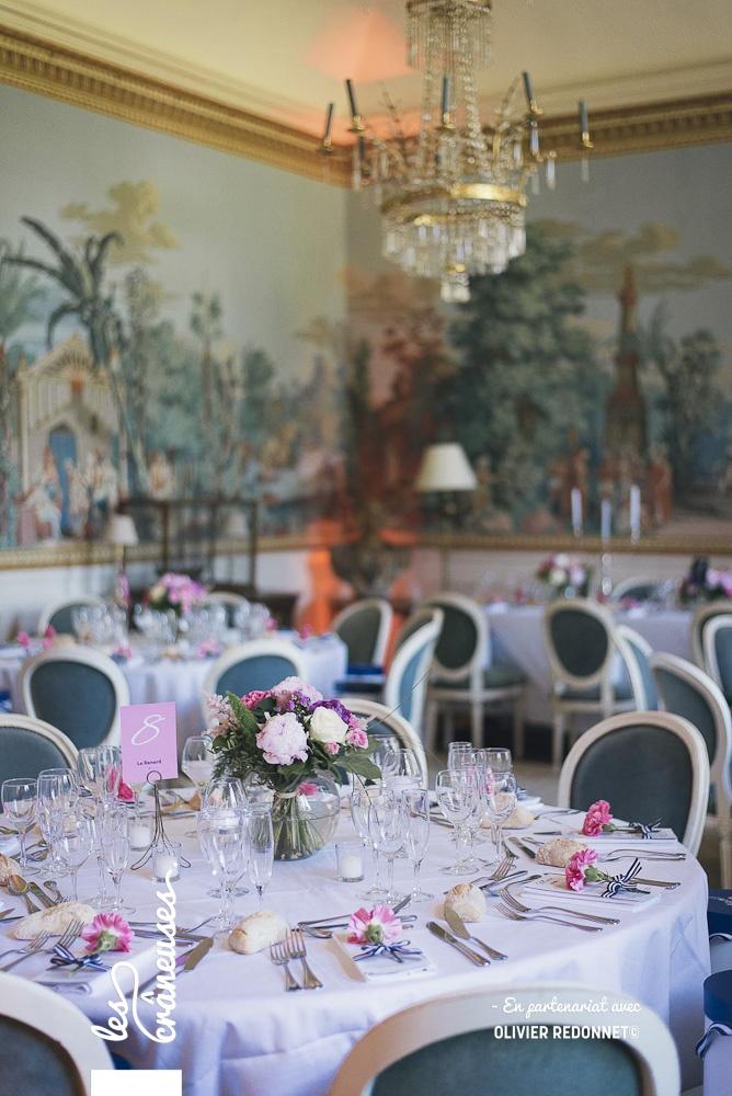 Mariage navy - Mariage en rose - Décoration mariage - Décoration table - Les crâneuses - Wedding planner - Bretagne