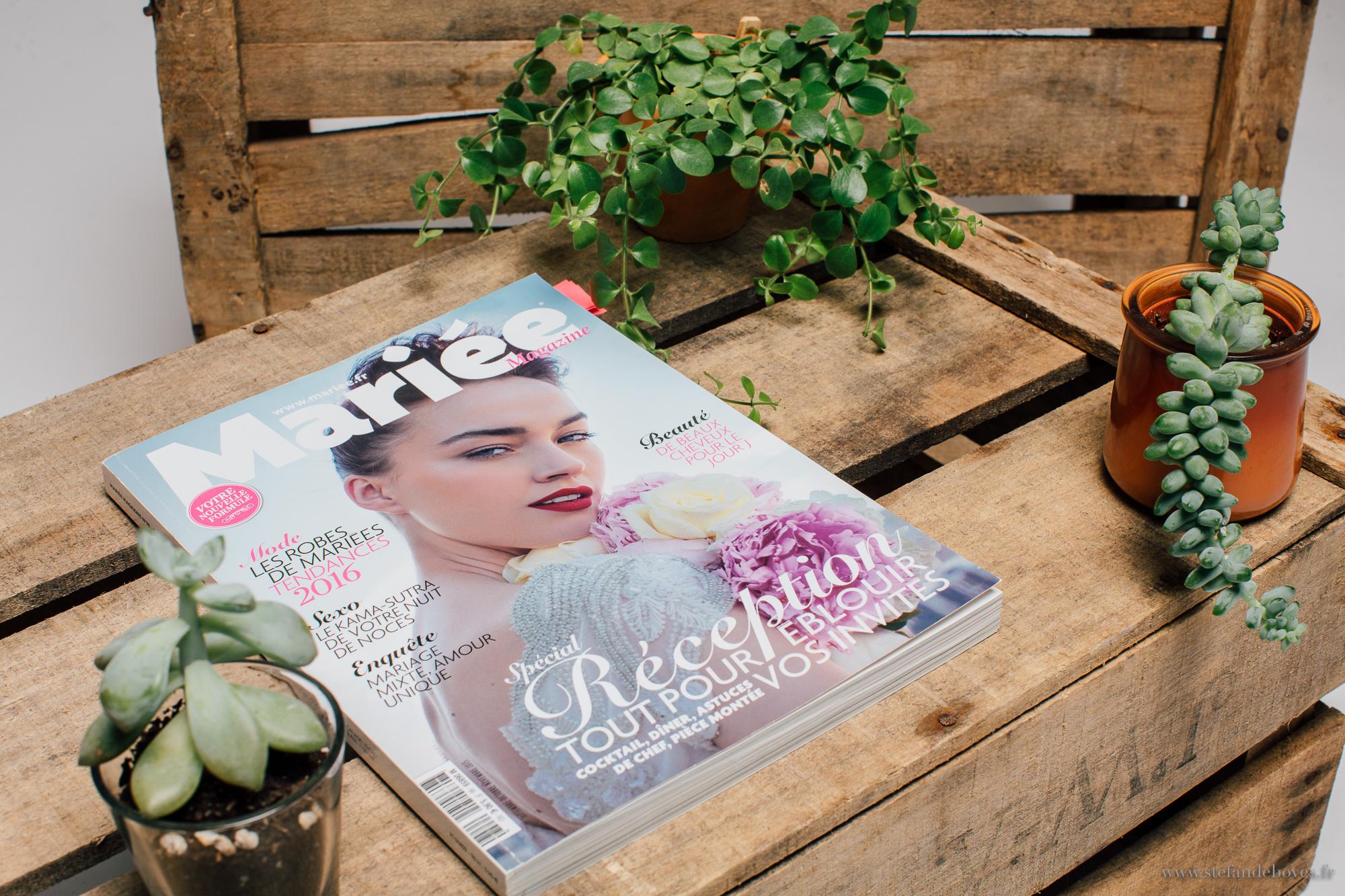 Mariée Magazine presse - special réception - les crâneuses