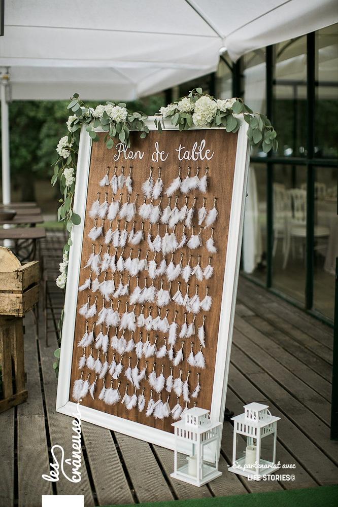 Plan de table boho folk - Décoration mariage bohème - Plume - Les crâneuses - Mariage Paris