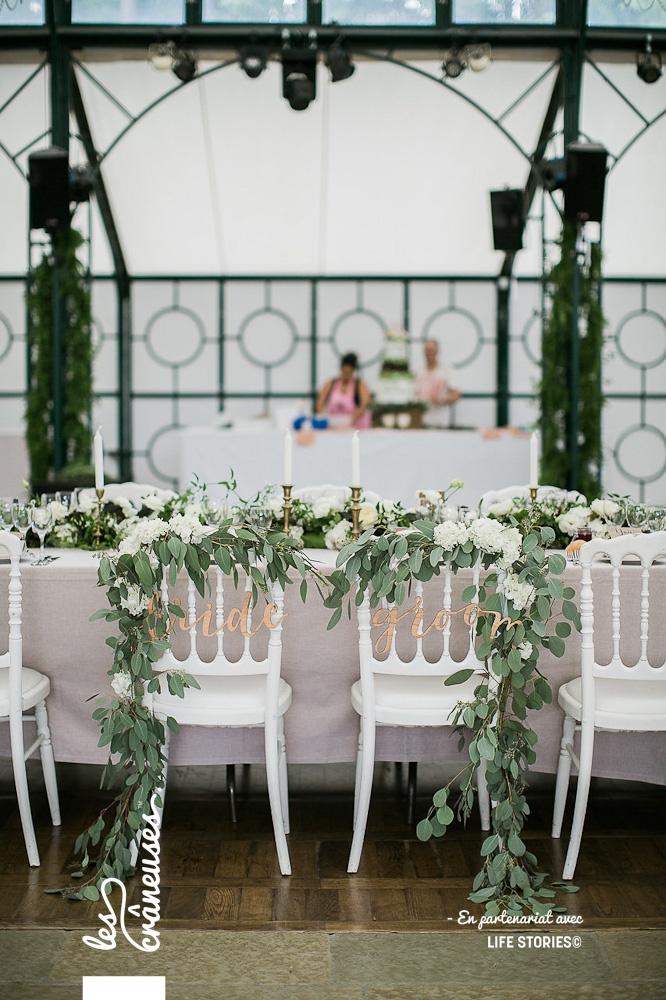 Chaises mariés - Signalétique Mrs Mr - Décoration mariage bohème - Les crâneuses - Domaine de la Butte Ronde - Paris