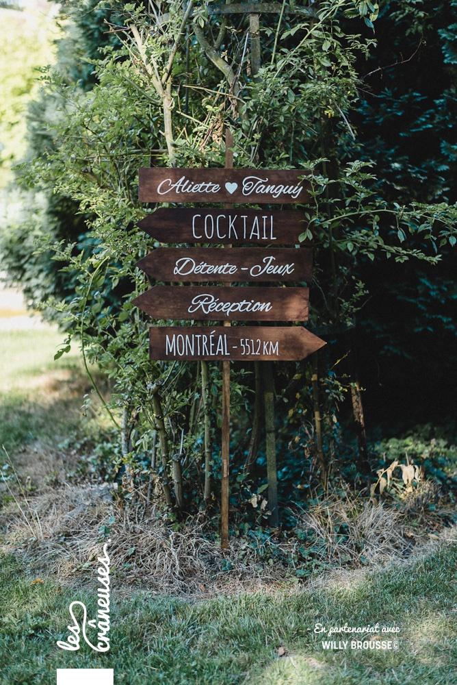 Signalétique mariage - Panneau directionnel - Bois - décoration - Les crâneuses
