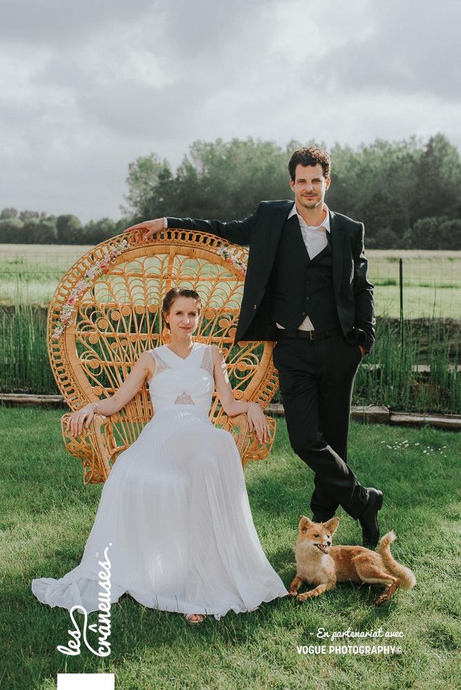 Mariage Amiens - Fauteuil Emmanuelle - Décoration mariage - Les crâneuses