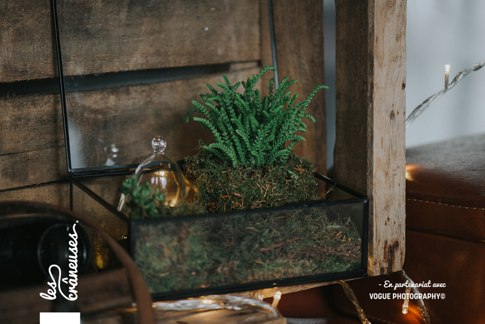 Terrarium - Décoration mariage - végétal