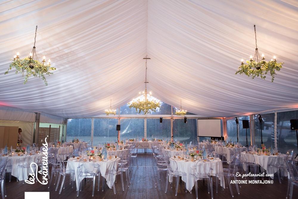 Mariage - Angers - Tente cristal - Les crâneuses - Décoration mariage - Elegant - Raffiné - Chic - Chaises cristal