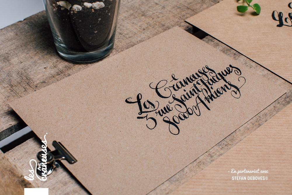 Les crâneuses - Wedding planner - Paris - Lille - Amiens - Enveloppe kraft