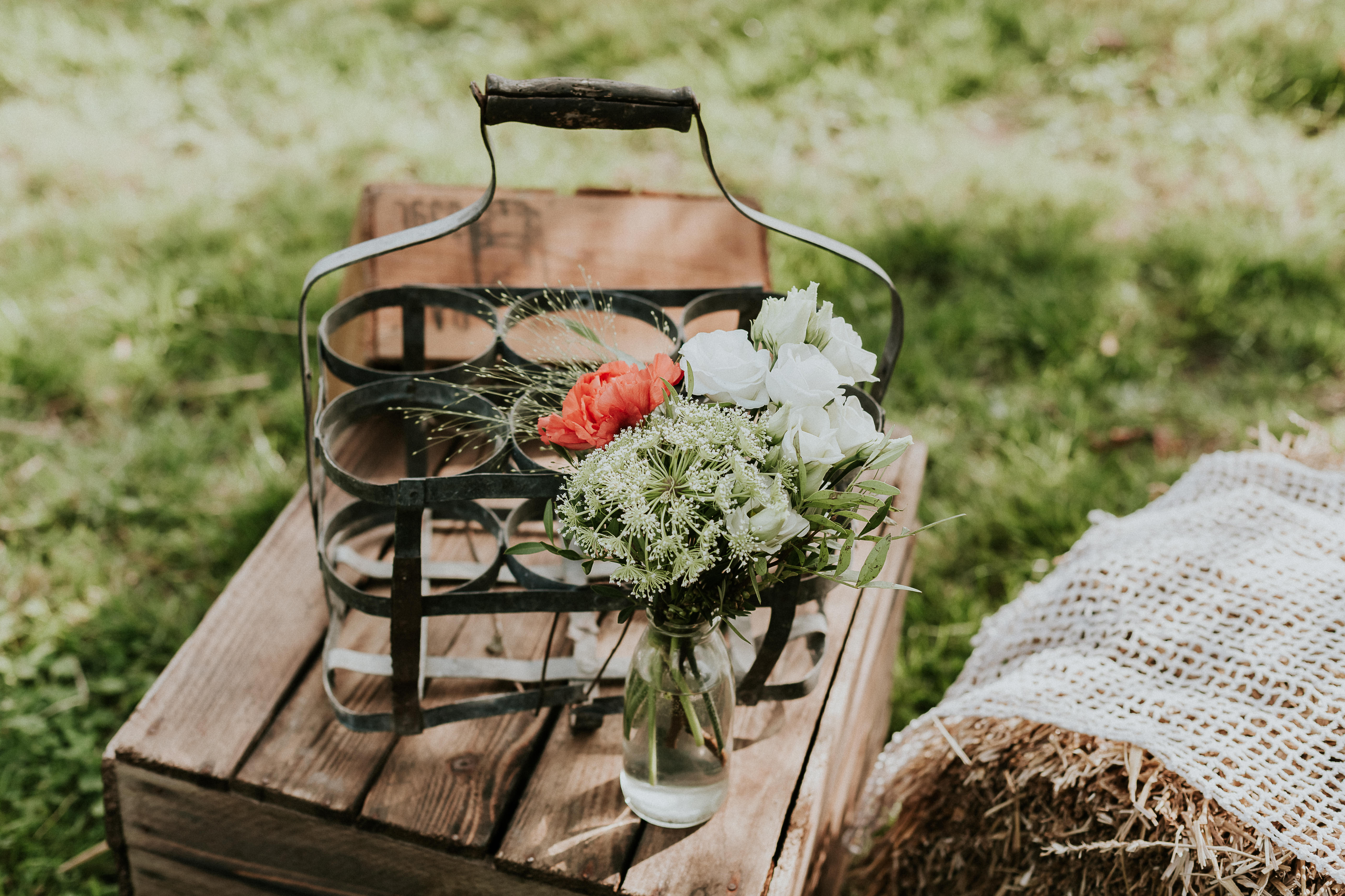 Mariage - Champêtre - Rustique - Fleurs - vert - orange