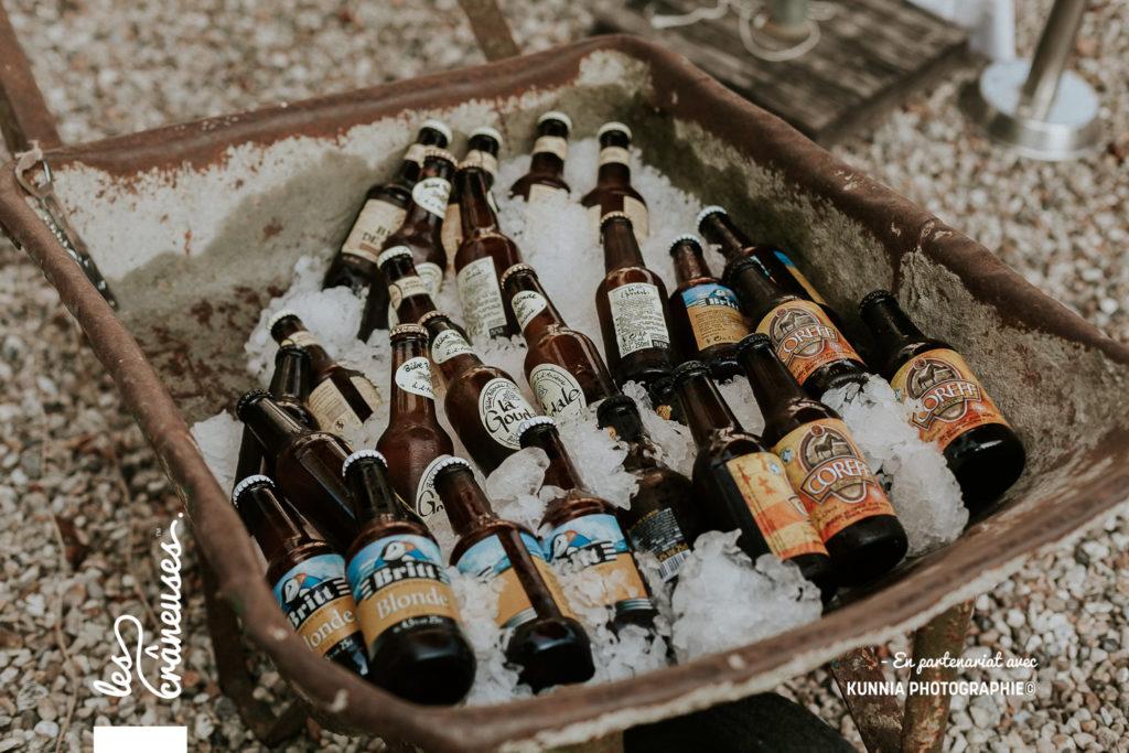 Mariage - Vin d'honneur - bar à bières - brouette - décoration - Les crâneuses - Wedding planner