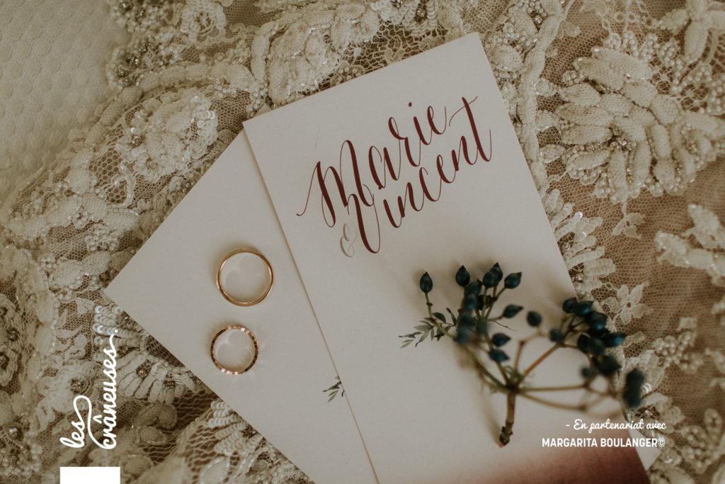 Mariage en hiver - Faire part - Mariage romantique - Alliances - les crâneuses