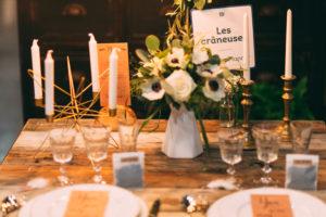 table décoration - les crâneuses - bougies