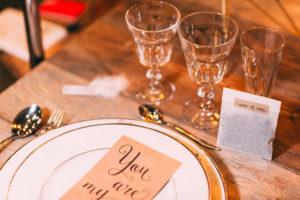 Table - décoration - Mariage - Calligraphie