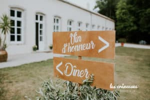 Chateau Autigny la Tour - Mariage - Nancy - Signalétique - Panneau bois - Wedding planner - Les crâneuses