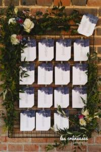 Mariage Domaine De Guerquesalle - Les Crâneuses - plan de table - Fleurs - bohème