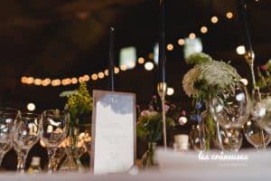 Décoration Domaine De Guerquesalle - Les Crâneuses - Décoration table mariage - Menu - Bougeoir doré
