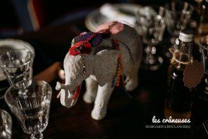 Décoration table mariage - Bohème - Eléphant