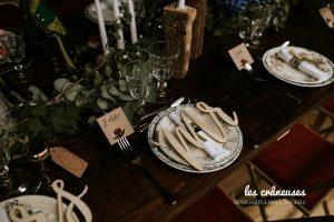 Décoration table mariage - Bohème - Fleurs - Vaisselle vintage