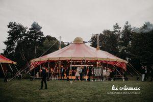 Mariage chapiteau - Amiens - Wedding planner - Les crâneuses - Cirque - Décoration