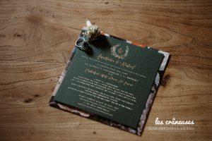 Faire part mariage - Vert sapin - Les crâneuses - Coordination - Wedding planner