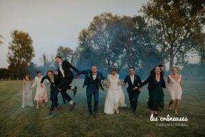 Coordination mariage - Domaine Traxène - Nord - Séance photo - Témoins - Fumigène