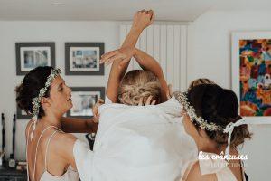 Préparatifs mariée - Robe - Témoins - Les crâneuses