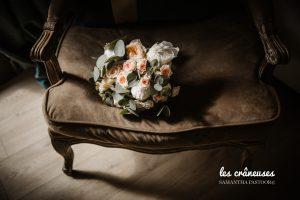Bouquet mariée poudré - Préparatifs mariée