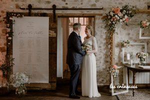 Décoration mariage - Plan de table - Salle de réception - Couleurs poudrées