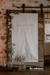Plan de table mariage - Tissu - Lin - Nature - Décoration - Végétal