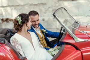 Mariage Grange de Montmartre - Wedding planner - Les crâneuses - Voiture collection